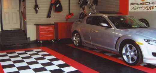 Модульный пол для гаража