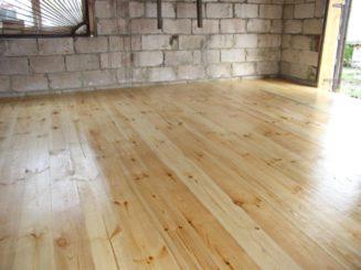 Деревянный пол для гаража