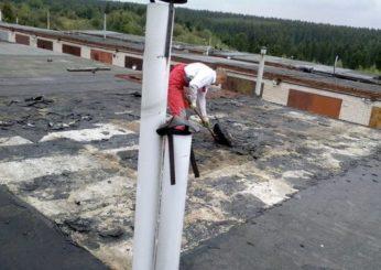 Ремонт крыши гаражей