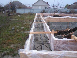Армированный монолитный пояс гаража