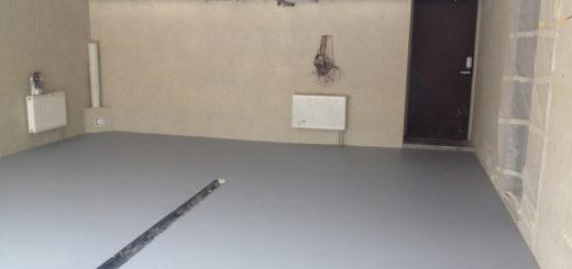Готовый бетонный пол в гараже