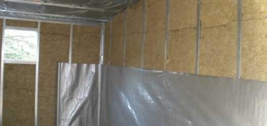 Пароизоляция стен гаража в Москве и Подмосковье