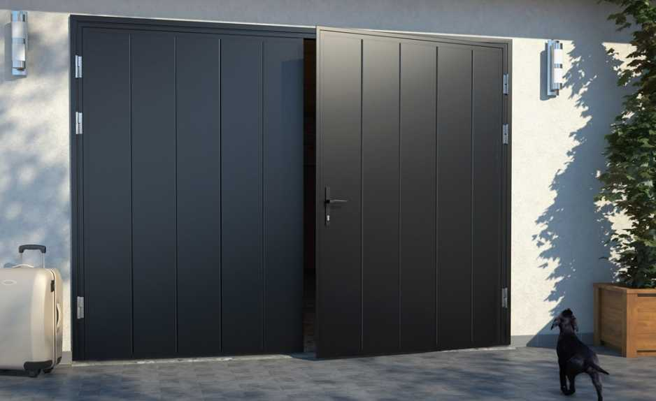 Поставить металлические гаражные ворота