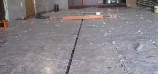 Укладка на бетонный пол гаража керамогранита