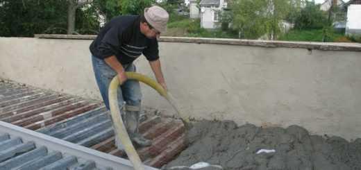 Залить крышу гаража бетоном