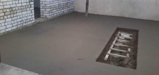 залить пол в гараже