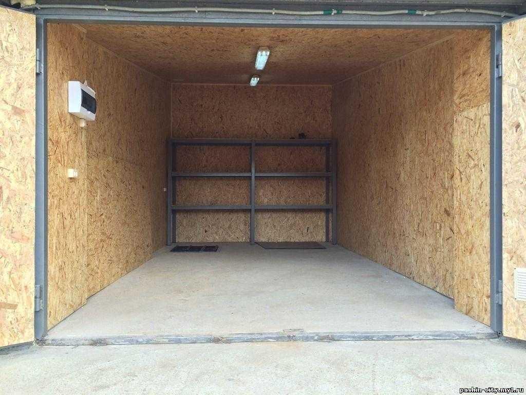 Обшивка стен гаража OSB (ОСП)