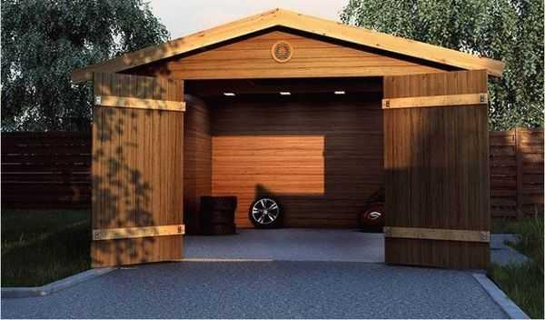 Строительство деревянных гаражей