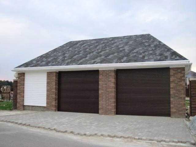 Покрытие крыши гаража гибкой черепицей