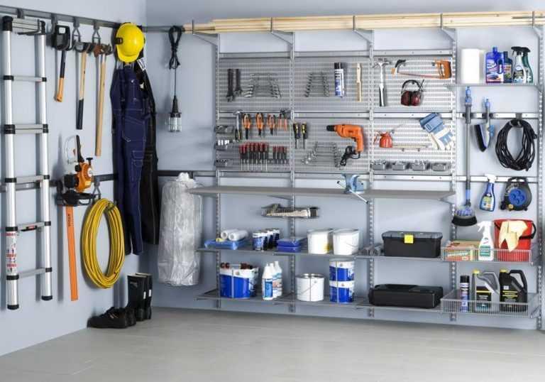 Изготовление и установка полок в гараже