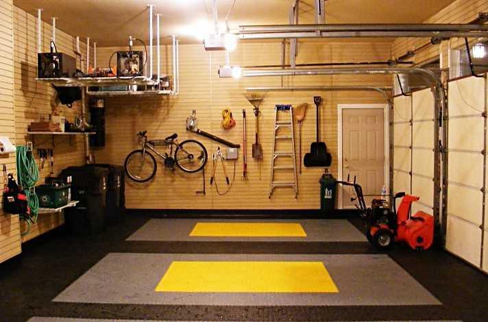 Обшивка стен гаража сайдингом