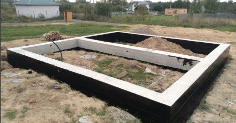 Мелкозаглубленный ленточный фундамент для дома, бани и гаража